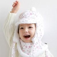 [베베누보] 스노우햇/아기모자_플라워가든