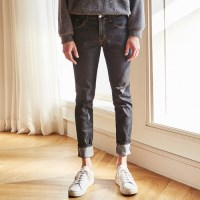 REGULAR WASHED SLIM JEAN (BLACK)