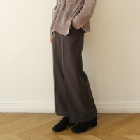 Woolen straight fit slacks