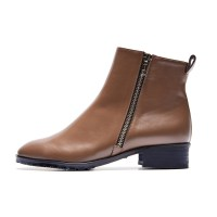 7121 Zipper ankle boots cocoa