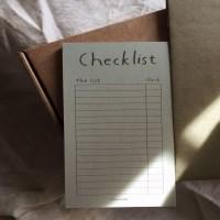 Malcha latte checklist