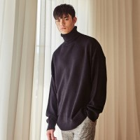 PAUL OVERSIZE TURTLENECK KNIT (BLACK)