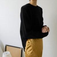 [WOOL70] 베이직 슬릿 울 니트 (5-COLORS)