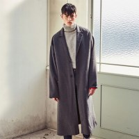 OVERSIZED HANDMADE WOOL COAT (GRAY)