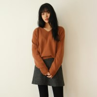 Cash basic v-neck knit