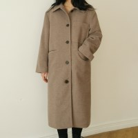 Pocket single long coat