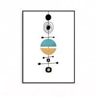 예쁜 인테리어그림 거실 북유럽 기하학 현대미술