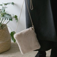 Baby fur mini bag
