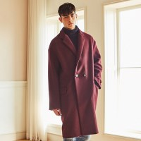 URBAN WOOL OVERSIZE DOUBLE COAT (WINE)