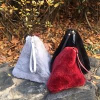 triangle FUR pouch-BAG (6-color)