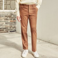 LIKEABLE STRAIGHT LEG SLACKS (BEIGE)