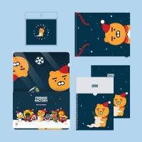 카카오프렌즈 크리스마스 한정 팩토리 선물 세트_(1500096)