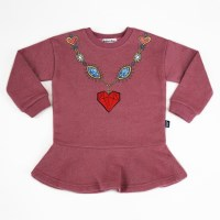 Heart Jewelry Skirt Sweatshirts (Kids)