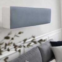 프렌치 레자 벽걸이 에어컨커버 - 블루그레이
