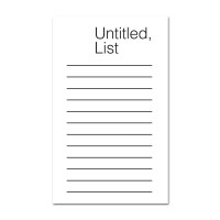 Graphic Note-Untitled,List