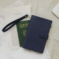 D.LAB DH88 (안티스키밍) Passport Wallet - Navy + 별자리스트랩