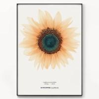 메탈 식물 꽃 그림 인테리어 액자 보석 해바라기