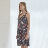 Love Cherry Pattern Sleeveless Dress