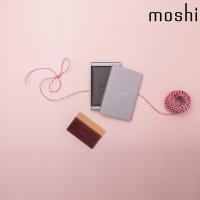 모쉬 카드 명함 지갑_버건디레드