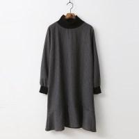 Wool Stripe Dress