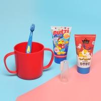 [어린이집준비] 카가&푸치 어린이치약+칫솔+양치컵 3종세트