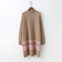 Wool Stripe Knit Dress