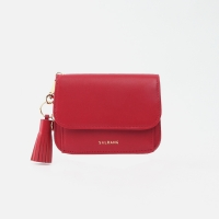 미니태슬증정]Dijon N301R Round Card Wallet cherry red