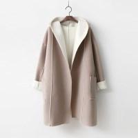 Wool Hoodie Long Coat - 양면