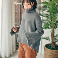[울듬뿍 부드러운스웨터]아망 터틀넥 울 스웨터