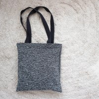 black knit ecobag