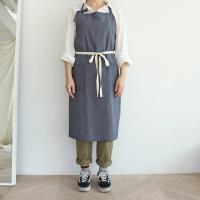 navy stripe apron