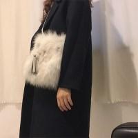 Fox fur square bag