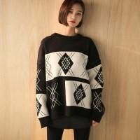 loose fit pattern knit