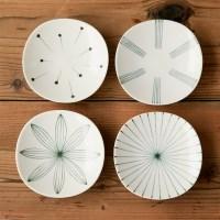 니코트 블랙 에가와리 접시 16cm JAPAN