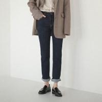 cozy straight banding jean