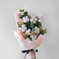 목화 & 별꽃 핑크 꽃다발/졸업,입학
