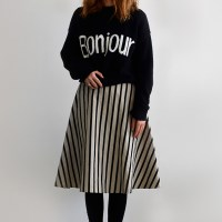 [Fabric] Mono Black Stripe Linen (블랙 스트라이프 린넨)