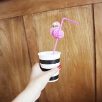 New Honeycomb Flamingo Party Straw - 5개