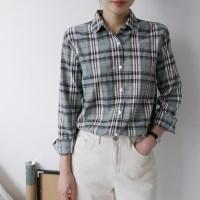 스프링 빈티지 체크 셔츠 (3-COLORS)