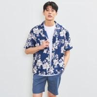 [비키니밴더] 네이비 블루밍 셔츠 (MEN)