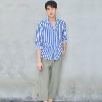 [비키니밴더] 블루 스트라이프 셔츠 (MEN)