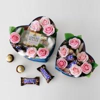 발렌타인데이 초콜릿 플라워 하트박스(대)