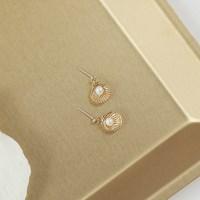shellfish pearl earrings (2colors)