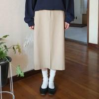 Classic banding midi skirt