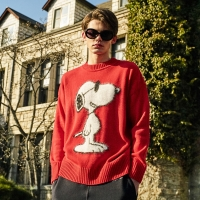 [SS18 Peanuts] Snoopy Angora Knit(Red)_(599976)