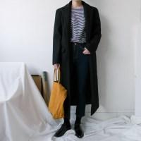 [WOOL50] 울 스탠다드 롱 코트 (BLACK)