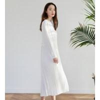 [치즈달] chiffon pleated dress