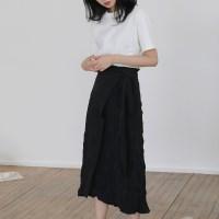 [치즈달] crinkle wrap skirt