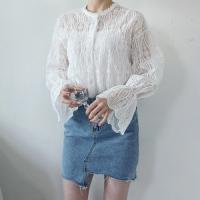 Wave lace blouse