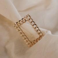 [치즈달] chain frame hair clip